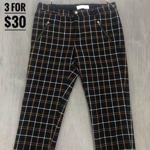 Zara kids paid pants black mustard yellow 11/12